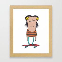 skater dude Framed Art Print