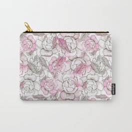 Silver peony dreams Carry-All Pouch