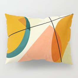 mid century geometric shapes painted abstract III Pillow Sham
