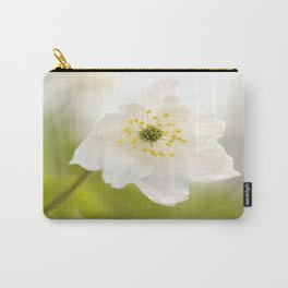 Gentle Beauty Of Nature White Anemone #decor #society6 Carry-All Pouch