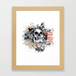 The life of the dead is retained in the memory of the living Framed Art Print