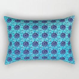 Blue succulent garden Rectangular Pillow