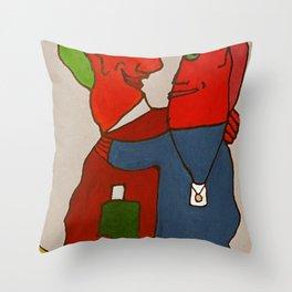 Crazy Twoheaded Woman Throw Pillow