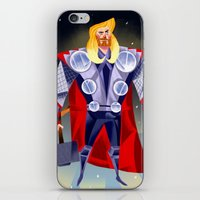 thor iPhone & iPod Skins featuring Thor by ArtsyPabster
