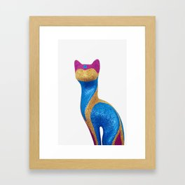 Sparkle Cat 1 Framed Art Print