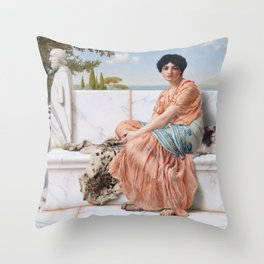 In the Days of Sappho Throw Pillow