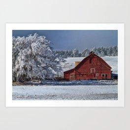 Red On White Art Print