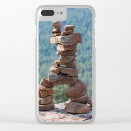 Military Sinkhole Scenic Outlook Rock Figure Clear iPhone Case