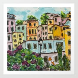Viareggio Villas Art Print