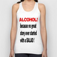 alcohol Tank Tops featuring alcohol by Sava Miskovsky