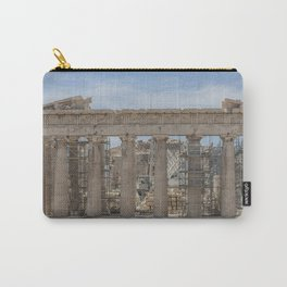 Modern and Ancient - Parthenon at Acropolis of Athens Under Construction Carry-All Pouch