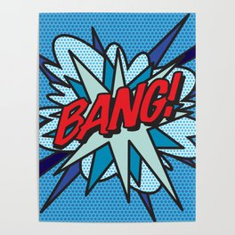 BANG Comic Book Pop Art Cool Fun Graphic Poster