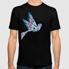 Hummingbird Pacific Northwest Native American Indian Style Art T-shirt