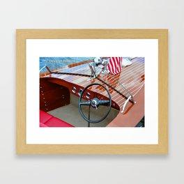 1947 Chris Craft Runabout Framed Art Print