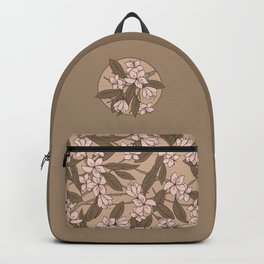 Sakura Branch Pattern - Pale Dogwood + Hazelnut Backpack