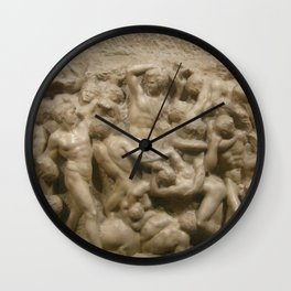 "Michelangelo ""Battle of the Centaurs"" Wall Clock"