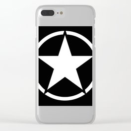 jeep star Clear iPhone Case