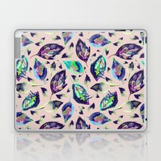 Blue autumn leaves Laptop & iPad Skin