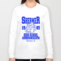 breakfast club Long Sleeve T-shirts featuring The Breakfast Club  |  Shermer High School Logo  |  John Hughes Universe by Silvio Ledbetter