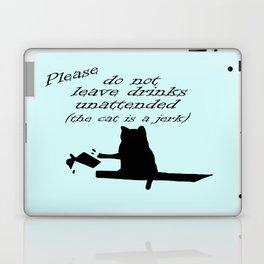 The Cat is a Jerk Laptop & iPad Skin
