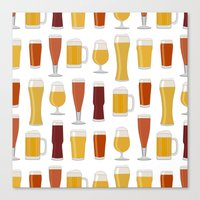 beer Canvas Prints featuring Beer  by Cute to Boot