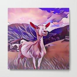 One Proud Goat Metal Print