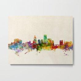 Providence Rhode Island Skyline Cityscape Metal Print