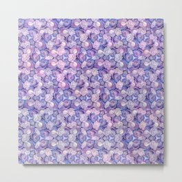 Botanical In Blue Metal Print