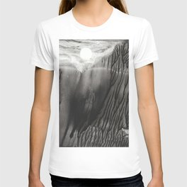 Blackwater Park - abstract watercolor monotype T-shirt