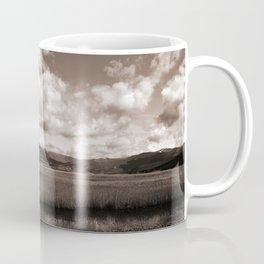 Minimal Monochrome Lake Scape Coffee Mug