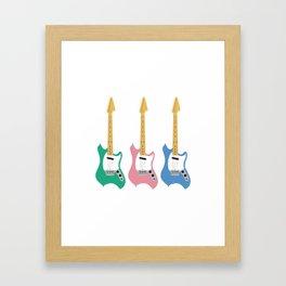 Strumming the guitar! Framed Art Print