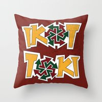 philippines Throw Pillows featuring IkoToki: University of the Philippines, Diliman by Franchie
