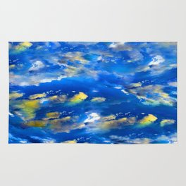CLOUDS ABSTRACT Rug