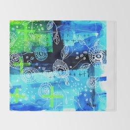 Blooms + Crosses Throw Blanket