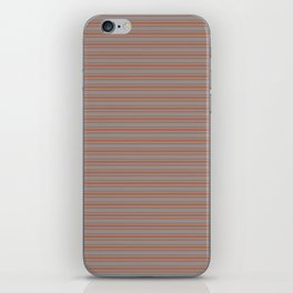 Cavern Clay Warm Terra Cotta SW 7701 Horizontal Line Patterns 2 on Slate Violet Gray SW9155 iPhone Skin