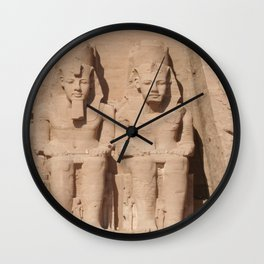 Abu Simbel 003 Wall Clock