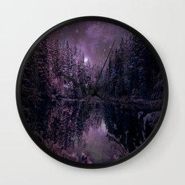 A Cold Winter's Night : Winter Wonderland Dark Purples Wall Clock