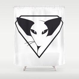 Siamese/Oriental cat the Bappelsine way Shower Curtain