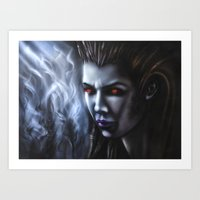 starcraft Art Prints featuring Kerrigan  by Kanelov