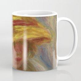 """Auguste Renoir """"Etude de femme au chapeau jaune"""" Coffee Mug"""