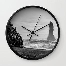 Reynisdrangar. Wall Clock