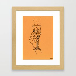 Winter Toast Framed Art Print