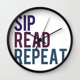 Sip, Read, Repeat Wall Clock