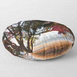 Australian Autumn Landscape Floor Pillow