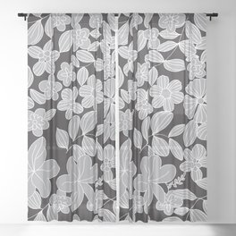 My Flower Design 7 Sheer Curtain