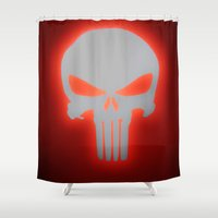 punisher Shower Curtains featuring Punisher 2 by Beastie Toyz