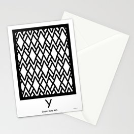 LETTERNS - Y - Comic Sans MS Stationery Cards