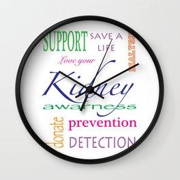 kidney awareness Wall Clock