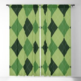 Argyle greens Blackout Curtain