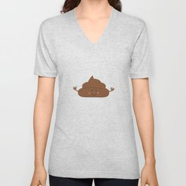 Meditating poo Unisex V-Neck